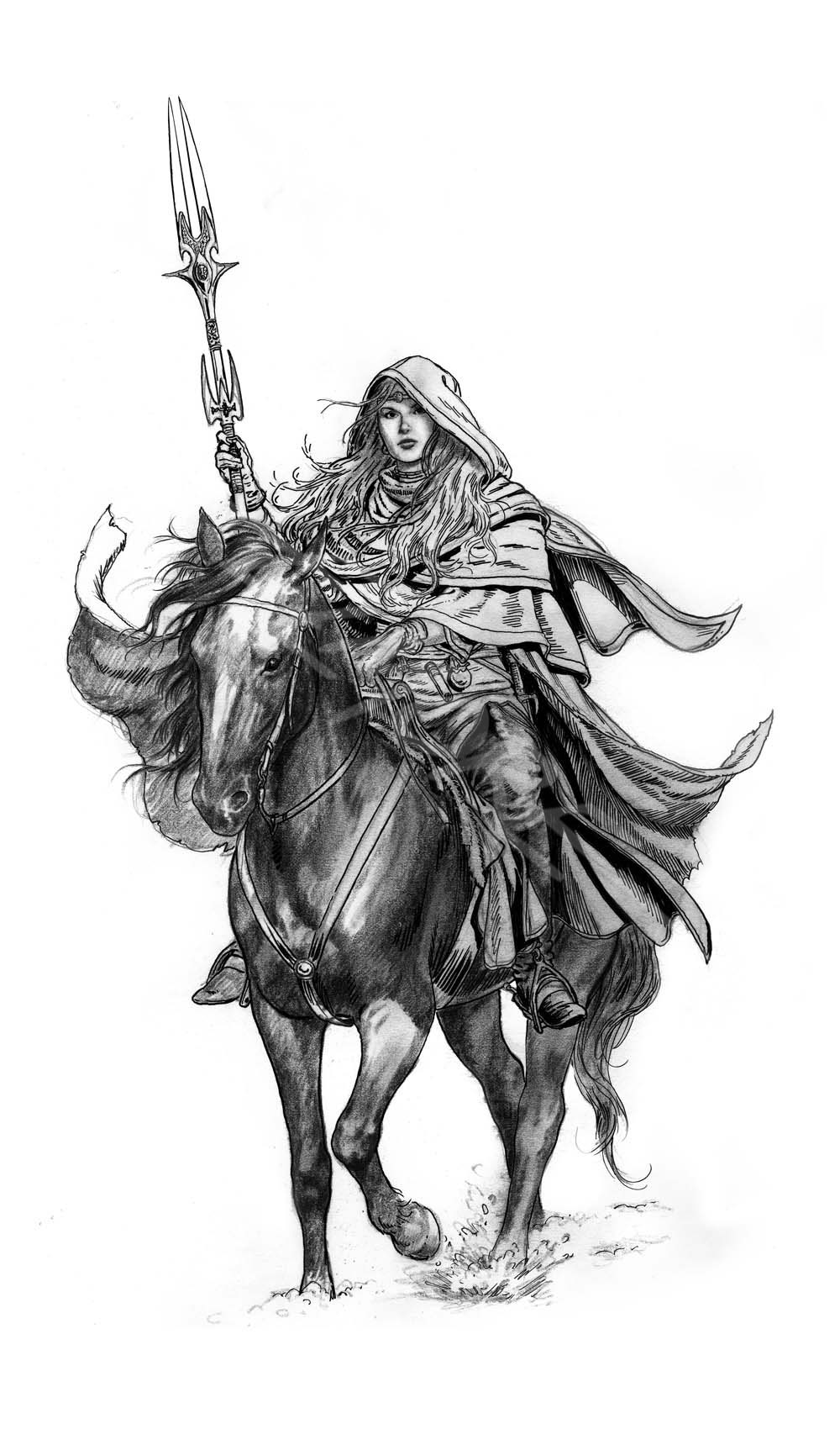 Drow On Horseback