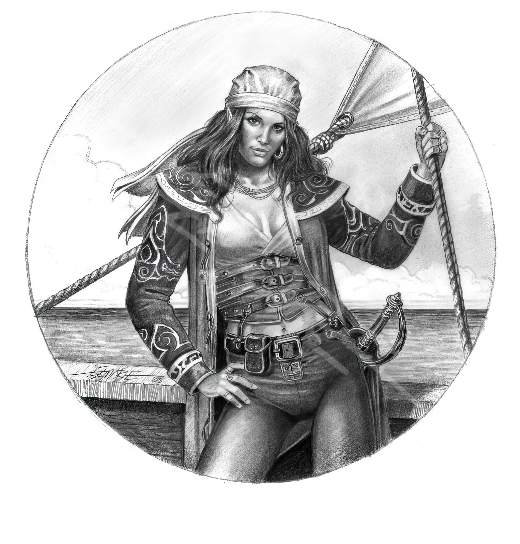 Elf Sea Captain - BW